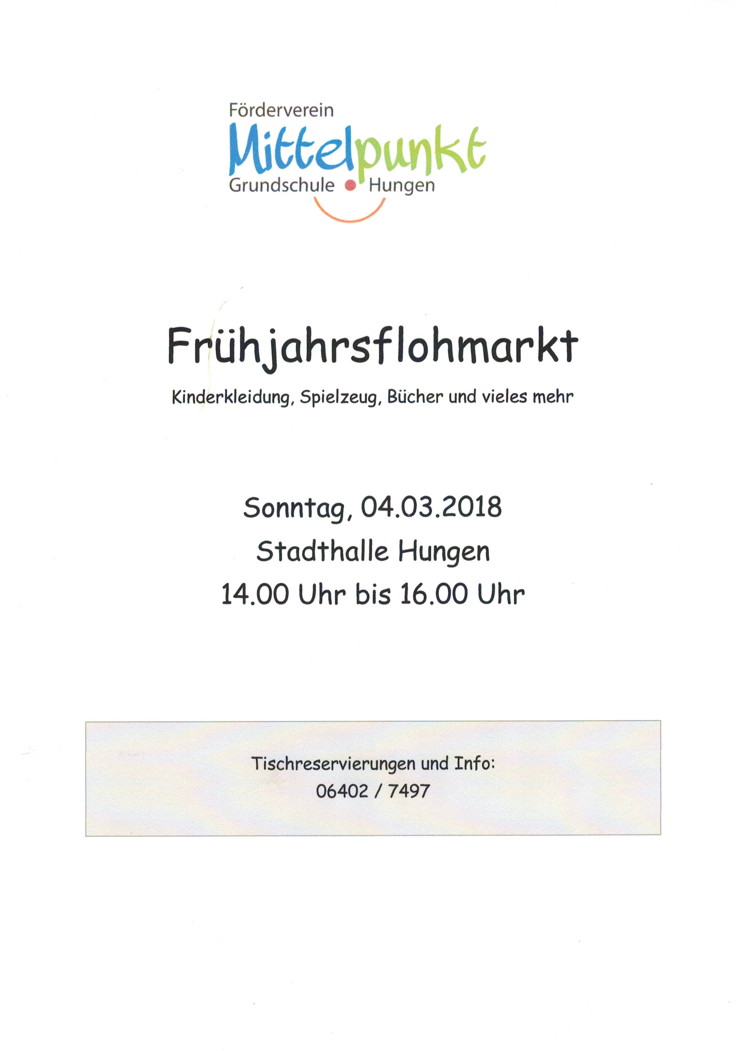 Frühjahrsflohmarkt
